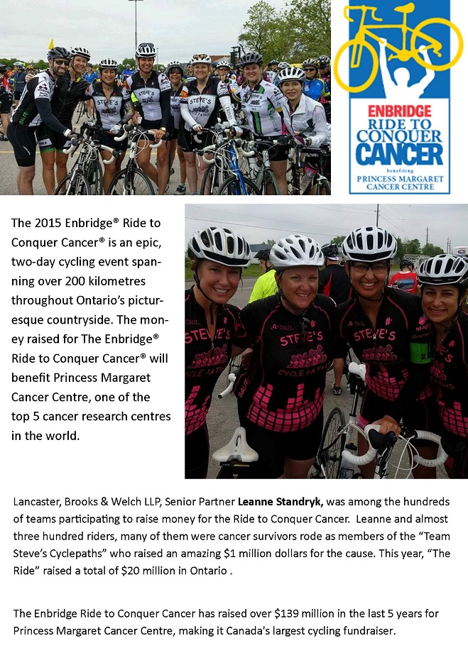 Leanne in Ride to End Cancer 2015 rev2